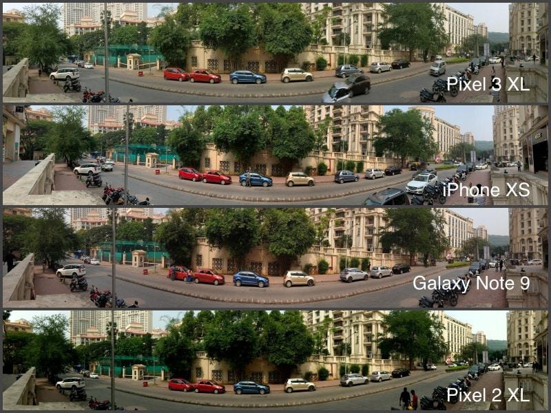 panorama samsung 100 CROP camera compare