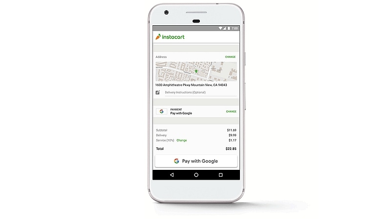 pay with google instacart Pay with Google  Google