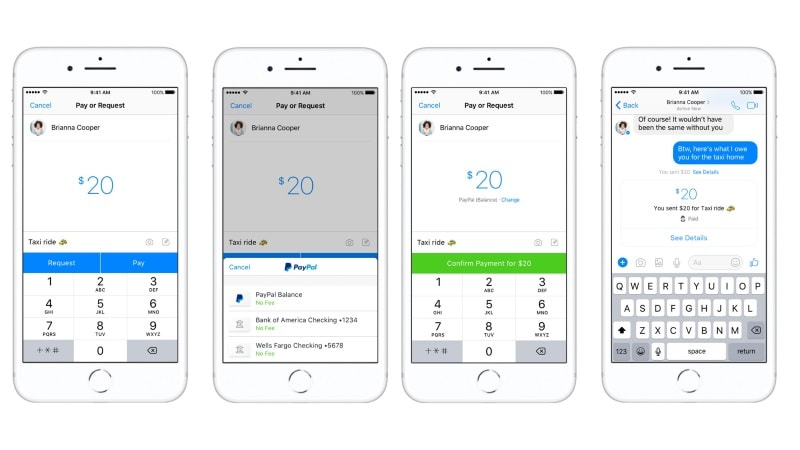 Facebook Messenger Now Lets You Make Peer-to-Peer Payments With PayPal