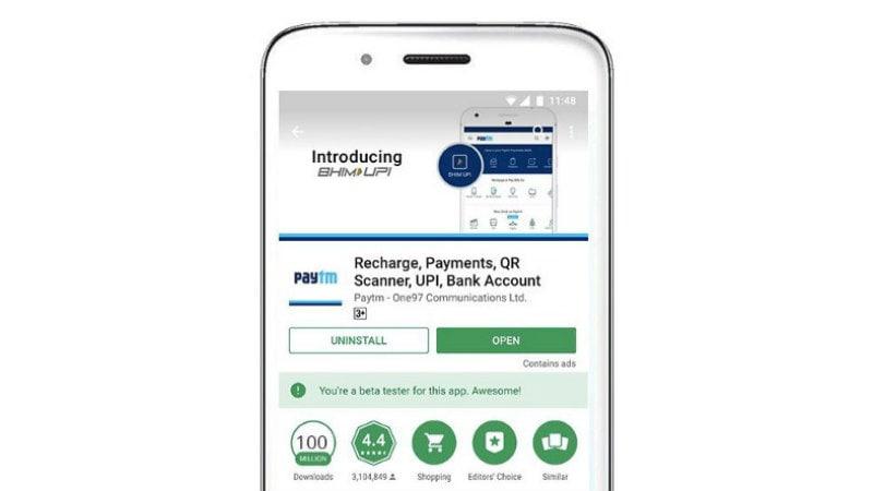 Paytm App Crosses 100 Million Downloads on Google Play