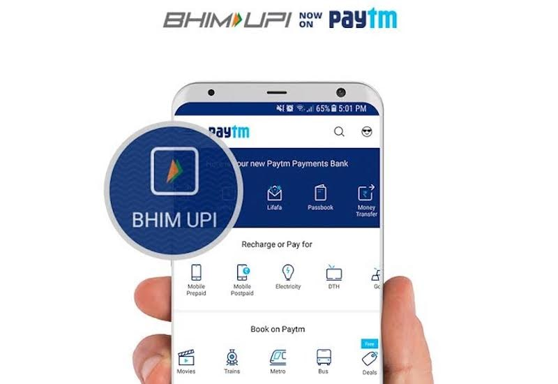 Paytm App Gets BHIM UPI Functionality via Paytm Payments Bank