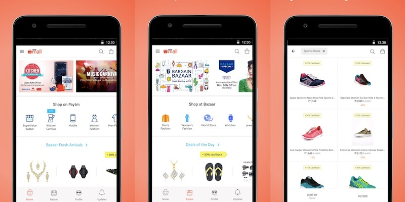 Paytm Mall Standalone App Launched for E-commerce Services