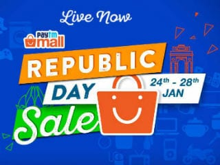 Paytm Mall Republic Day Sale Offers Cashbacks and Discounts on Smartphones, Laptops, and More