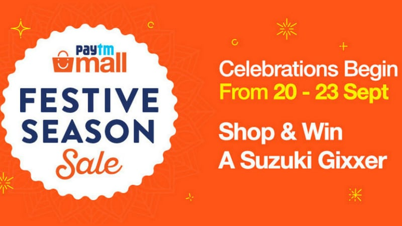 Paytm Mall Festive Season Sale Dates Announced, Will Offer Deals on Redmi Note 5 Pro, Samsung Galaxy Note 9, and More