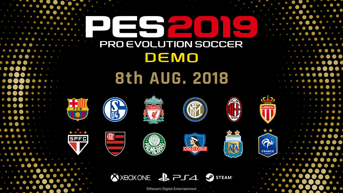 PES 2019 Demo Release Date, Download Size, System