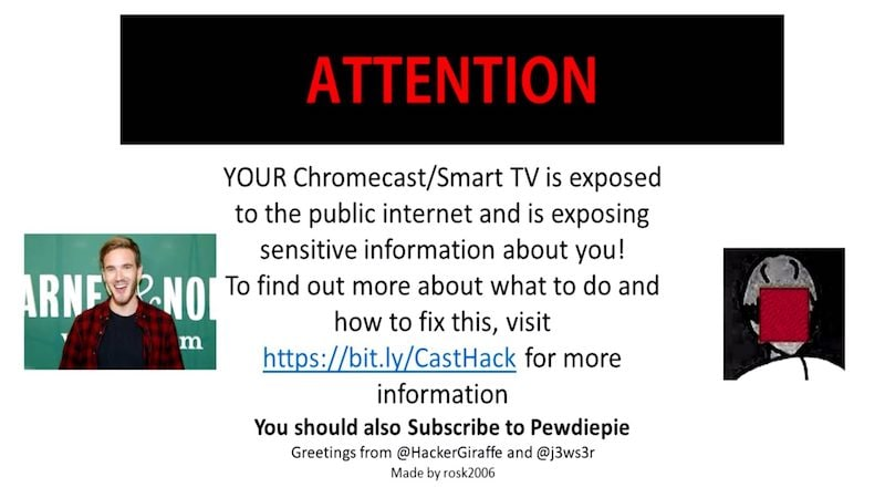 PewDiePie Promoted by Hackers Exploiting Router UPnP Vulnerability to Hijack Chromecasts