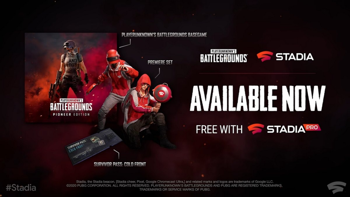 PUBG Now Available for Free on Google Stadia, More Games Announced at Stadia Connect