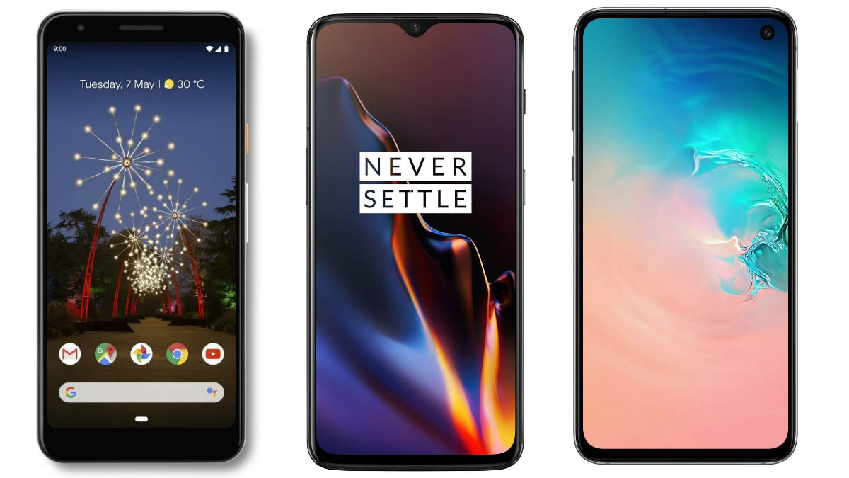 Google Pixel 3a vs OnePlus 6T vs Samsung Galaxy S10e: Price in India, Specifications Compared