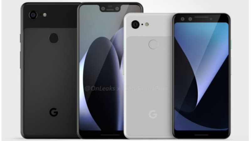 Google Pixel 3, Pixel 3 XL Leaked Renders Tip Display Notch, Single Rear Cameras
