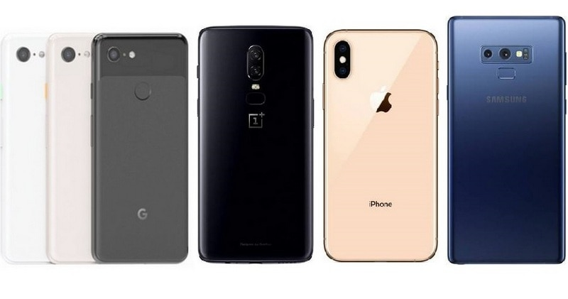 Google Pixel 3 vs OnePlus 6 vs iPhone XS vs Samsung Galaxy Note 9: Price in India, Specifications Compared
