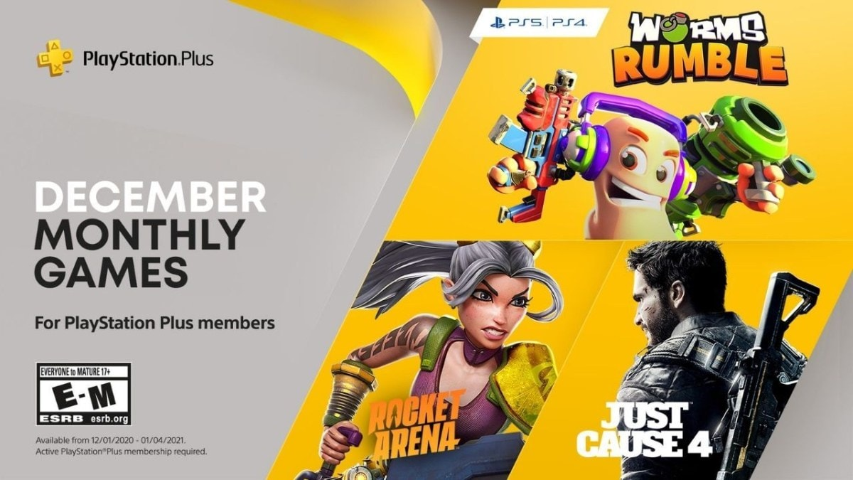 Ps4 Christmas Deal 2021 Playstation Plus Free Games Announced For December Just Cause 4 Rocket Arena Worms Rumble Ndtv Gadgets 360
