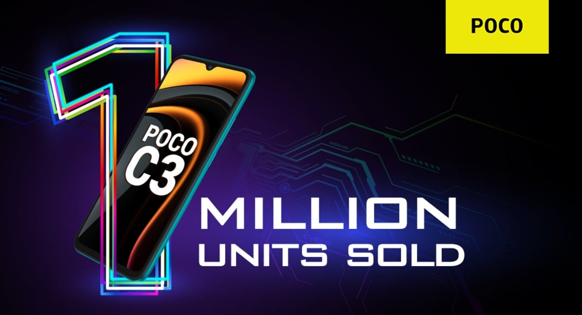 Poco C3 Crosses 1-Million Sales Mark in India, Gets a Limited-Period Discount - Gadgets 360