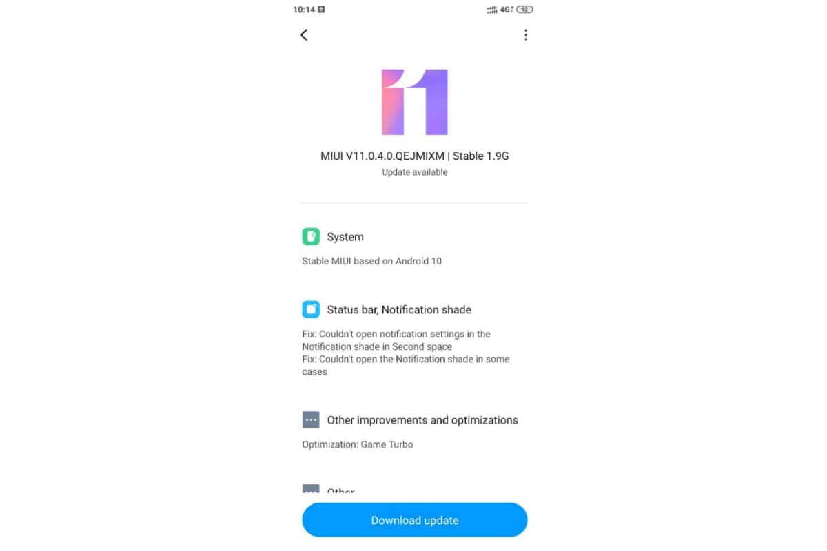 poco f1 android 10 miui 11 update twitter kiran murali Poco F1