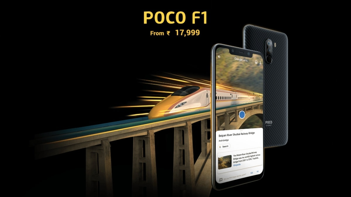 Poco F1 Price in India Cut Again, Now Starts at Rs. 17,999 for 6GB RAM + 64GB Storage Model