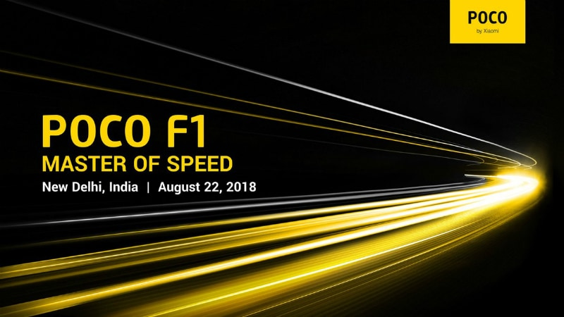 Xiaomi Poco F1 India Launch Set for August 22