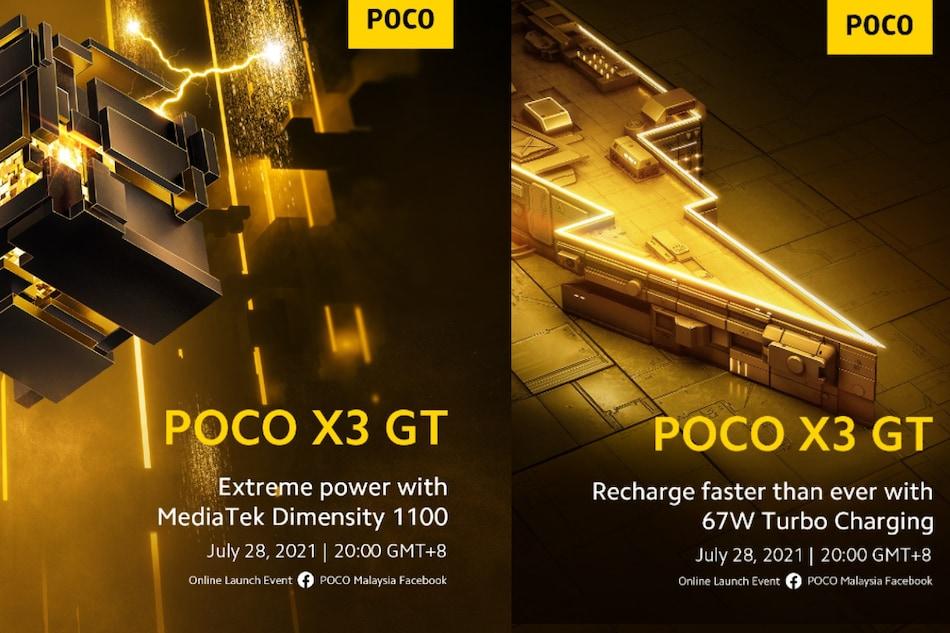 Poco X3 GT With MediaTek Dimensity 1100 SoC to Launch on July 28, Renders Leak Online