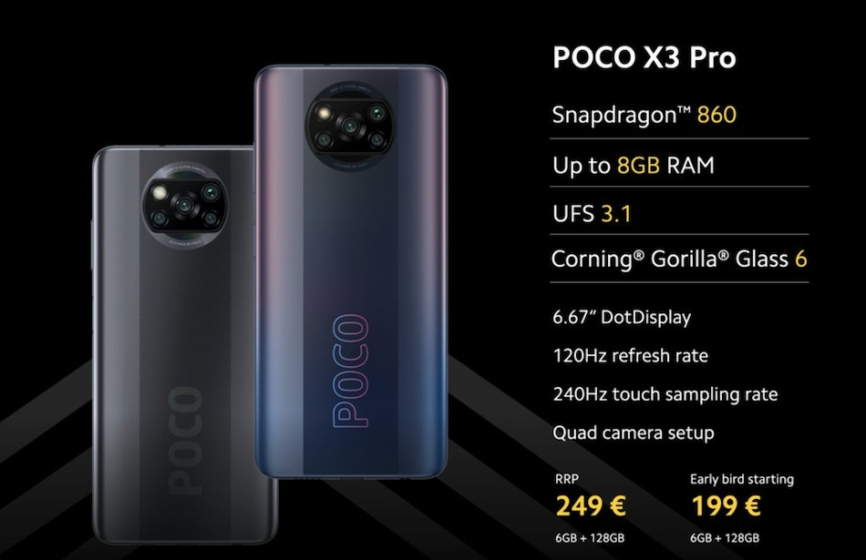 Poco X3 Pro, Poco F3 With Snapdragon 800-Series SoCs Launched: Price, Specifications