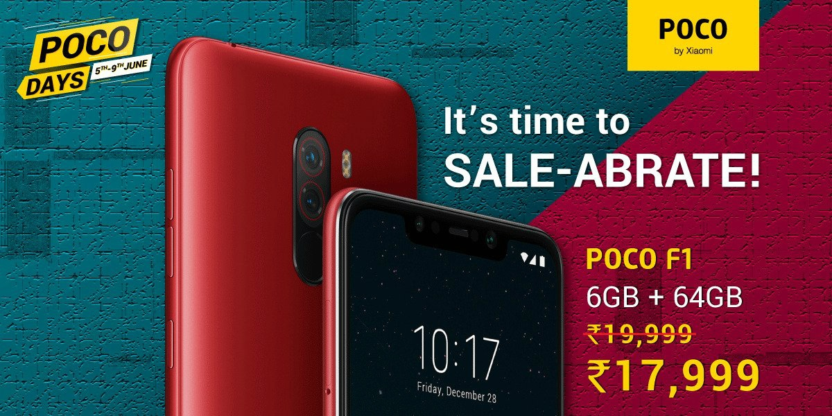 Get Poco F1 at an unbelievable  discount during the sale