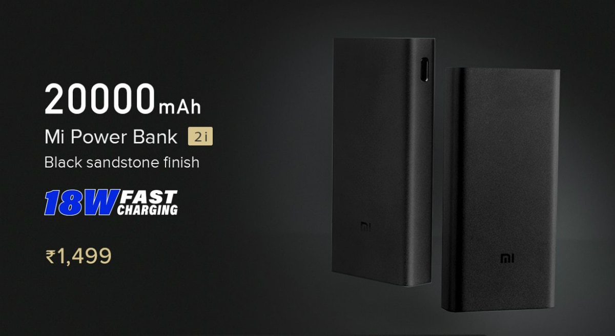 20000mAh Mi Power Bank 2i With Dual USB Ports Launched in India - A