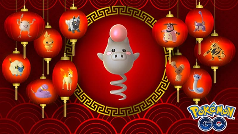 Pokemon Go Lunar New Year Event Brings Double XP, Shiny Spoink, Lucky Pokemon, and More