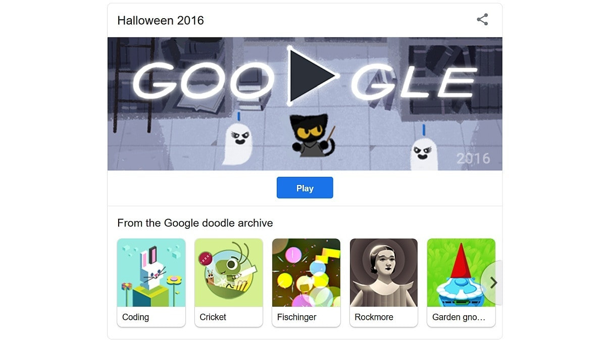 Popular Google Doodle Games Brings Back Halloween Game For You To Stay And Play At Home Technology News