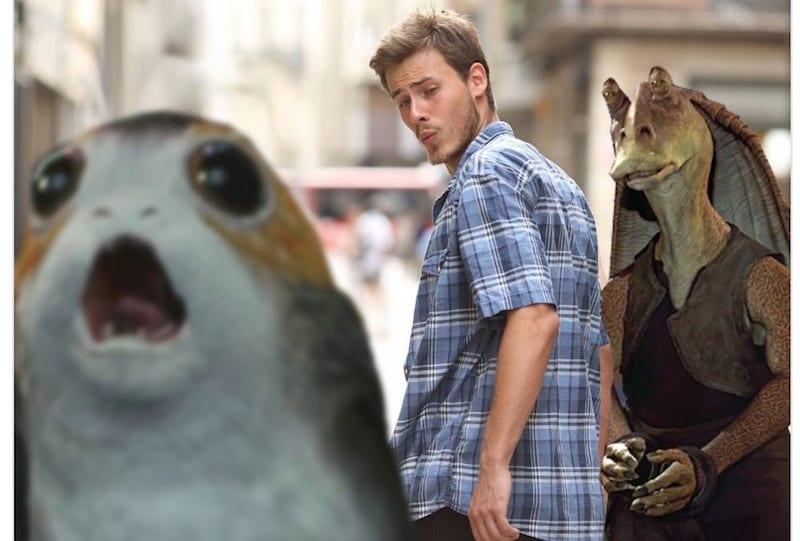 porg boyfriend meme memes