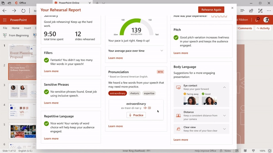 Microsoft PowerPoint Presenter Coach Now Finally Available on Desktop, Mobile Apps