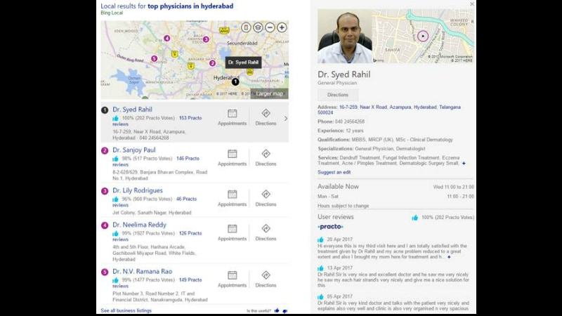 Practo Partners Microsoft to Let Users Make Doctor Appointments in Bing Search Results
