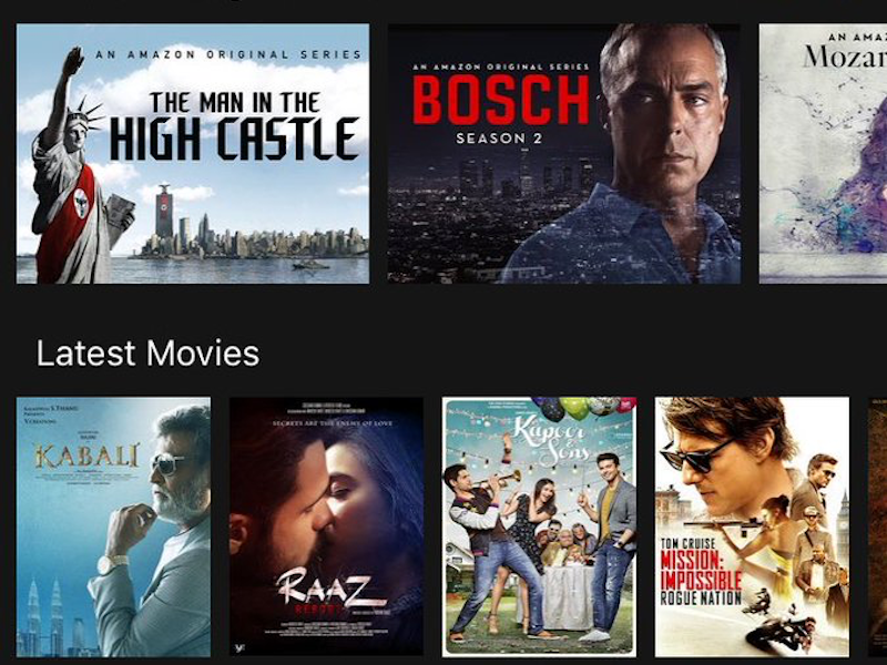 prime catalogue prime video