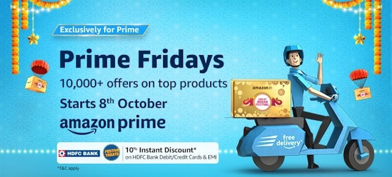 Amazon Announces Prime Fridays Great Indian Festival Offers
