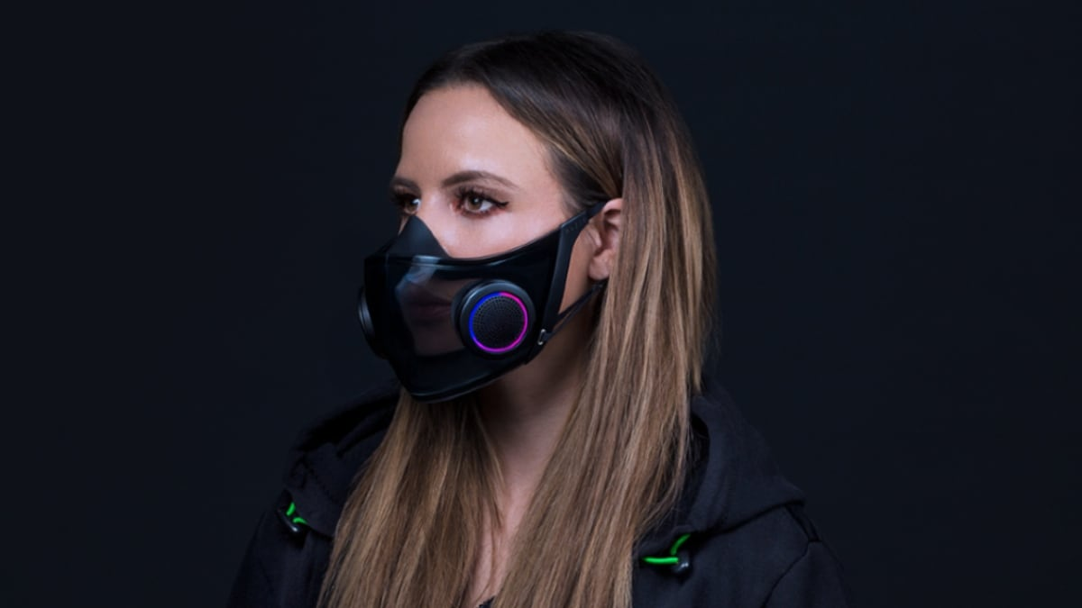 Razer's 'smart mask' concept looks like covid-friendly rave gear