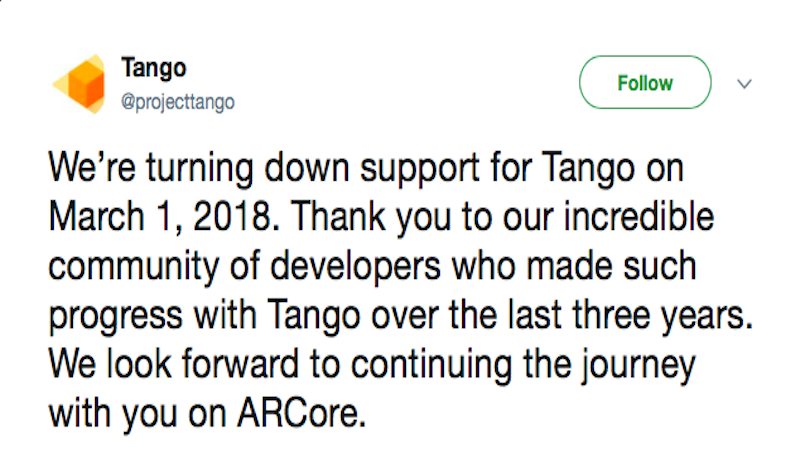 project tango tweet Project Tango Tweet