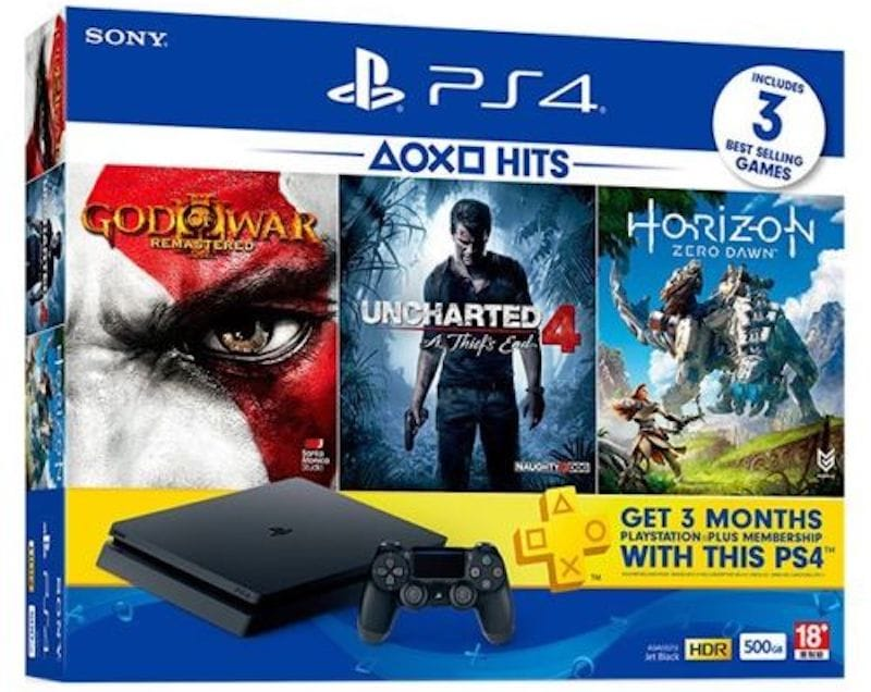 PS4 Slim with God of War 3 Remastered, Horizon Zero Dawn, Uncharted 4, and Three Months PlayStation Plus Membership Now Available in India