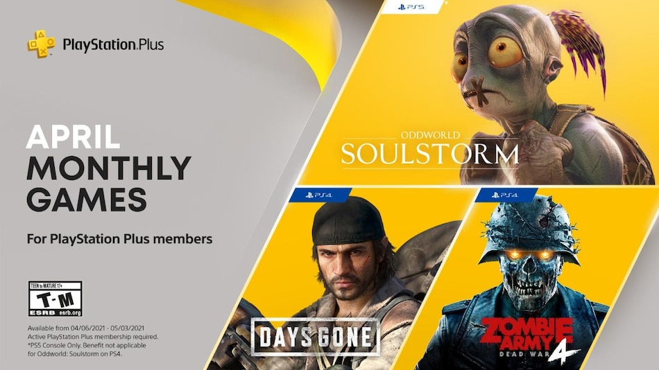 PlayStation Plus Free Games Announced for April – Days Gone, Oddworld: Soulstorm, Zombie Army 4: Dead War