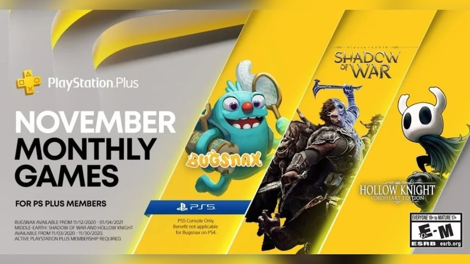 PlayStation Plus Free Games Announced for November, Includes Bugsnax as PS5 Exclusive