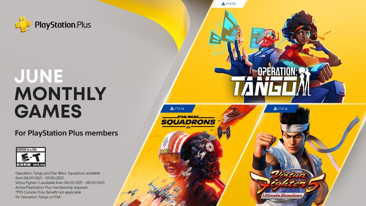 PS Plus Free June Games Announced — Star Wars: Squadrons, Virtua Fighter 5 Ultimate Showdown, Operation: Tango   NDTV Gadgets 360