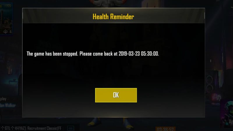 Pubg Mobile Ban Health Reminder Spotted In Game Limits Play Time - pubg mobile ban health reminder spotted in game limits play time of indian users