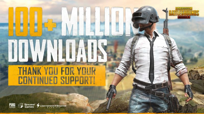 PUBG Mobile surpasses 100 million downloads milestone