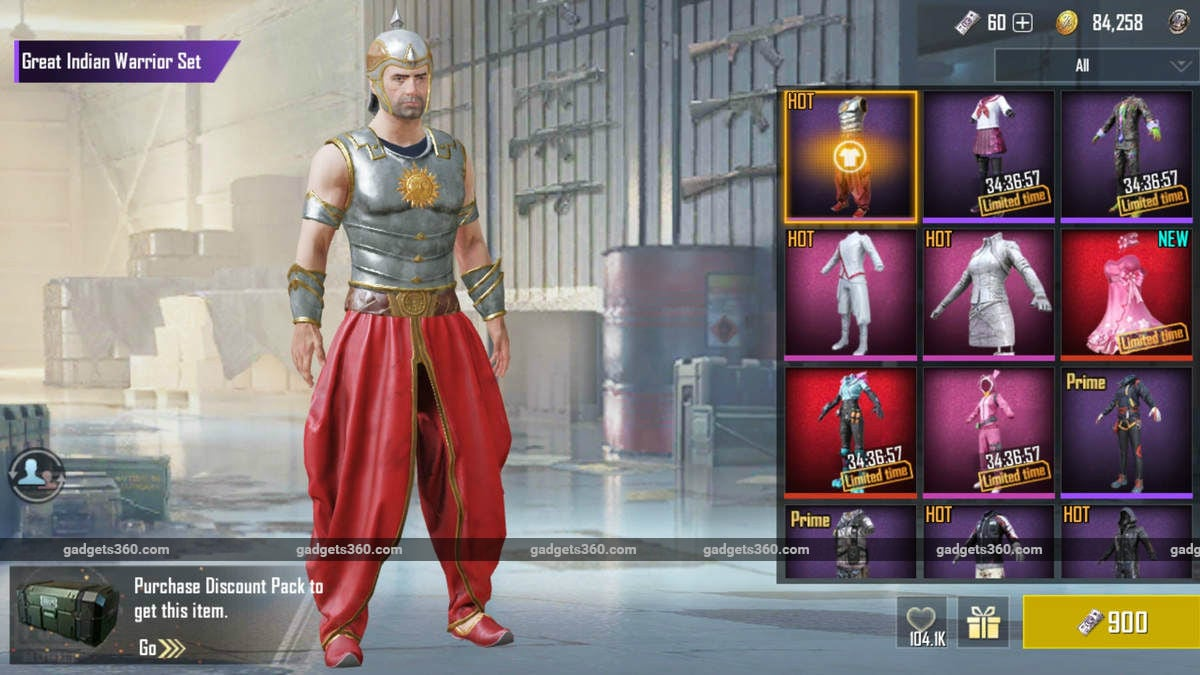 PUBG Mobile Gets a Baahubali-Inspired 'Great Indian Warrior' Outfit, Now Available With Limited Time Discount