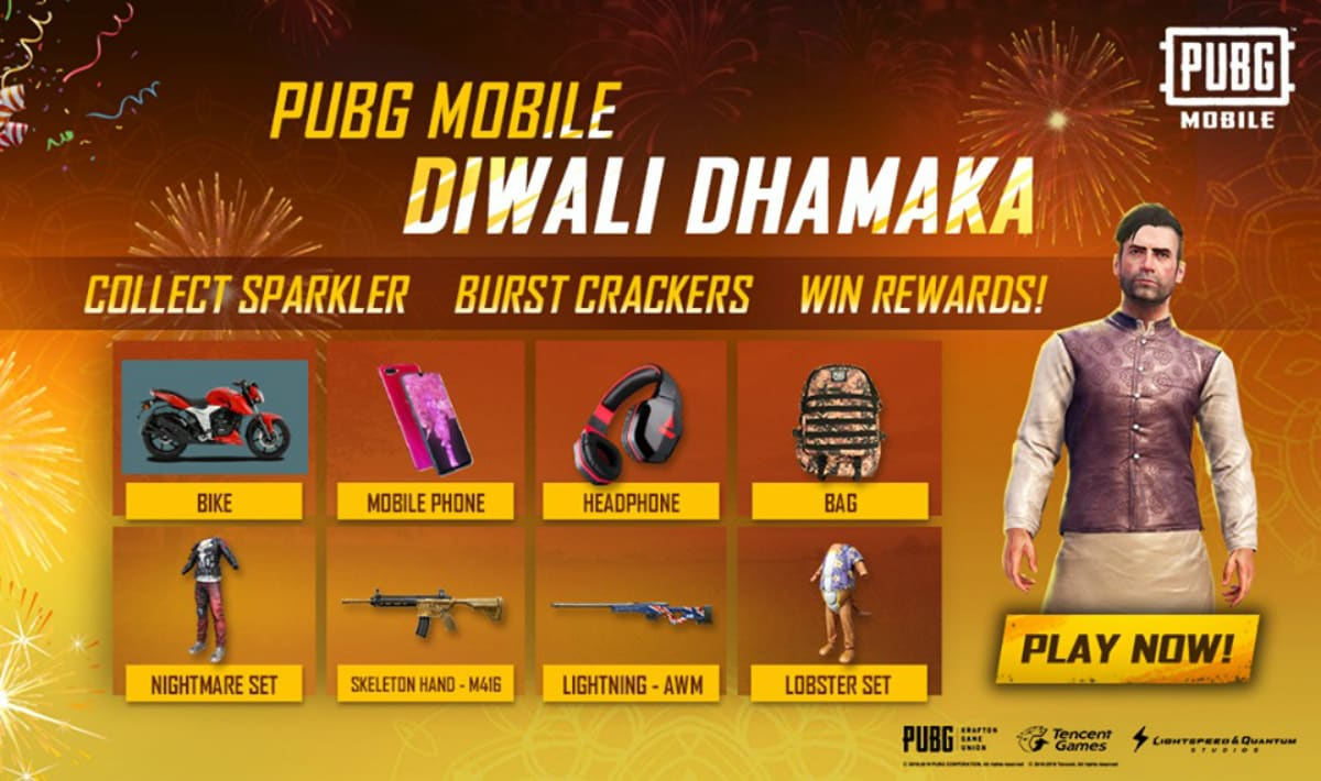 PUBG Mobile Diwali Dhamaka Event Now Live, Call of Duty: Mobile Announces First Halloween Event