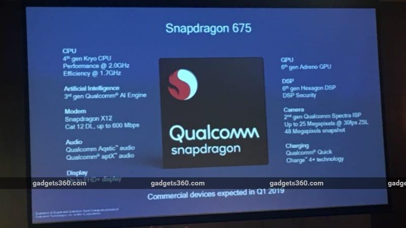 Qualcomm Snapdragon 675 SoC Unveiled, Brings Enhanced Gaming, Camera, AI Capabilities to Mid-Range Smartphones