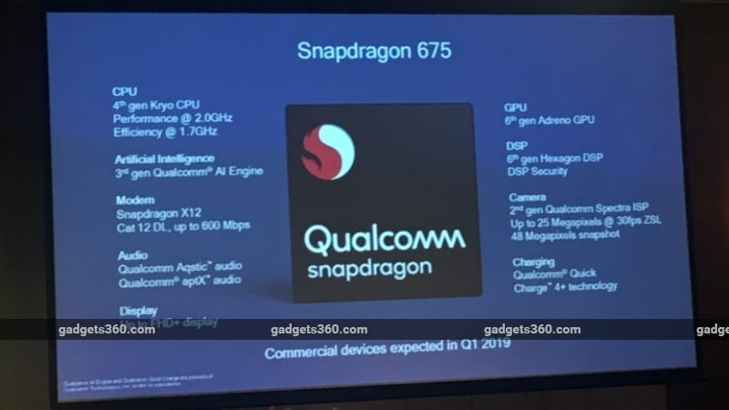Qualcomm Snapdragon 675 SoC Unveiled, Brings Enhanced Gaming, Camera, AI Capabilities to Mid-Range Smartphones