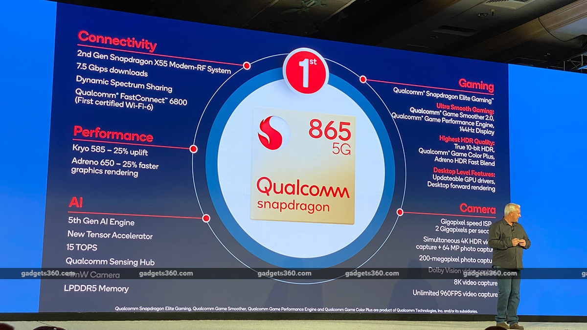Qualcomm Snapdragon 865 SoC, Snapdragon 765, Snapdragon 765G SoC Specifications Detailed