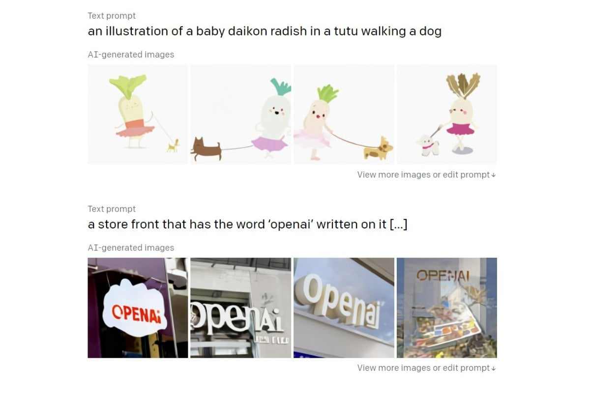 OpenAI's New AI Models Create Images From Text, Better Classify Them