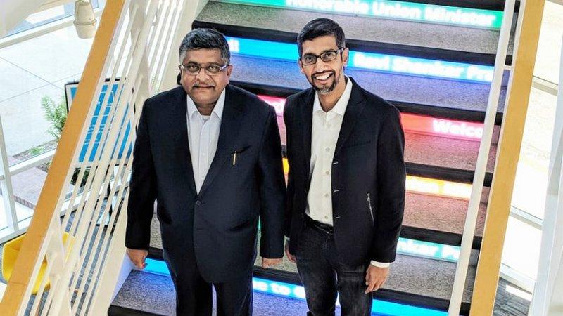 Prasad Meets Pichai, Seeks Google's Involvement in Empowering Indians