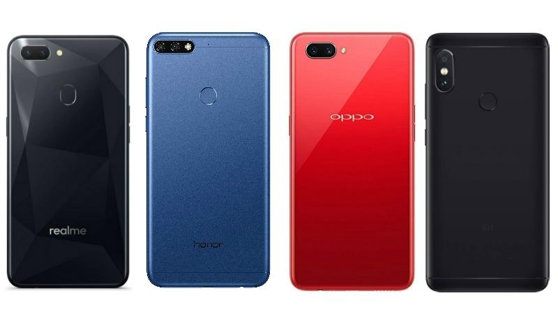bbbe3d29b89 Realme 2 vs Redmi Note 5 vs Oppo A3s vs Honor 7C  Price in India ...