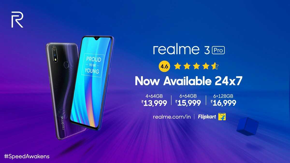 Realme 3 Pro Goes on Open Sale in India via Flipkart, Realme Store: Price, Specifications