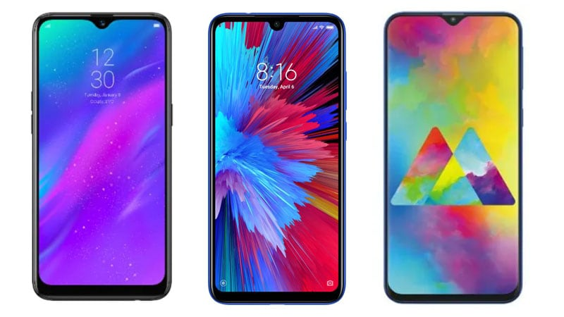 e799ab0f2 Redmi Note 7 vs Realme 3 vs Samsung Galaxy M20  Price ...
