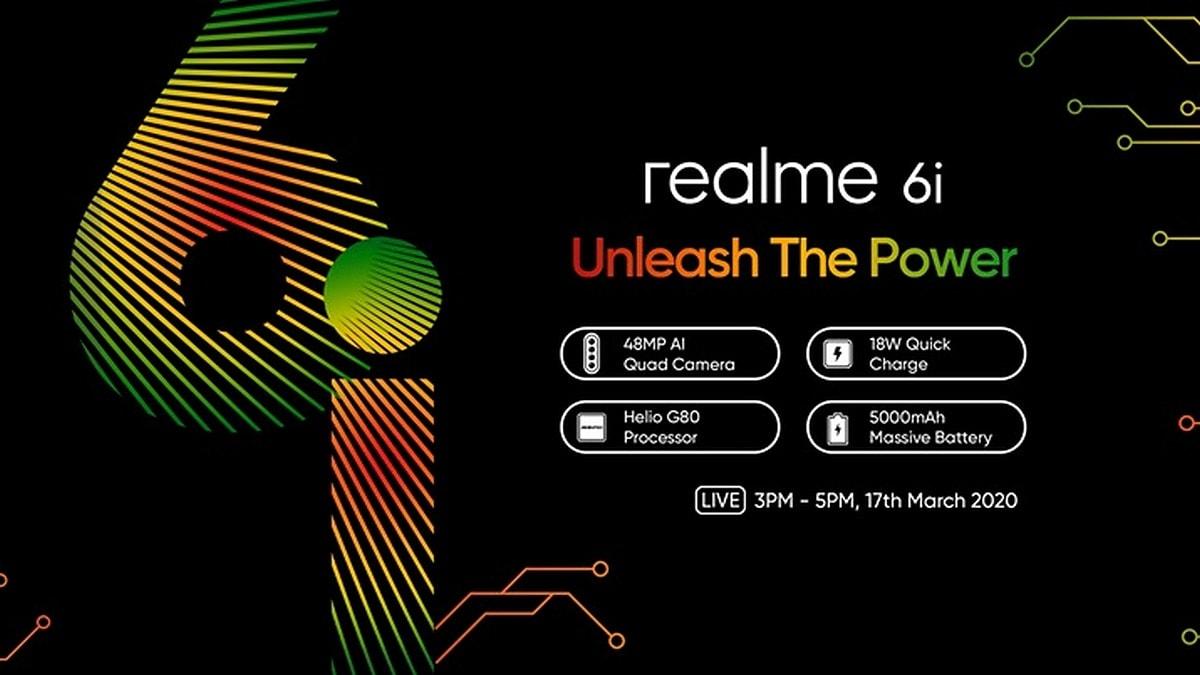 Realme 6i Will Feature 5,000mAh Battery, 16-Megapixel Selfie Camera, Waterdrop Notch