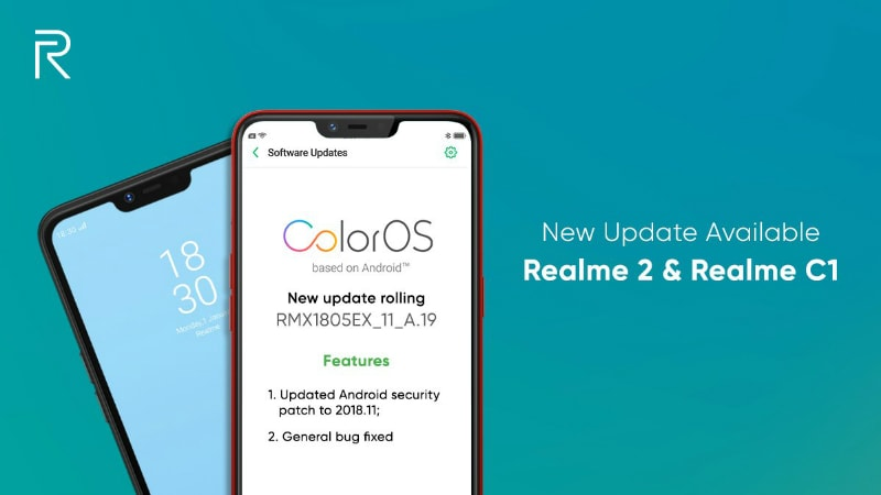 Realme 2, Realme C1 Receiving Update With November Android